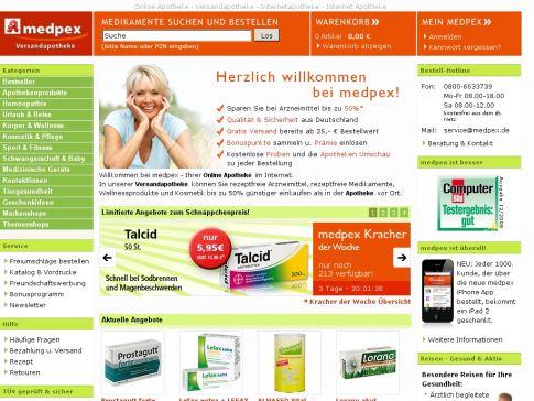 Versandapotheke medpex.de
